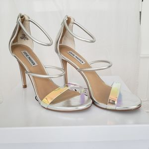 Steve Madden Silver and Iridescent Sandals